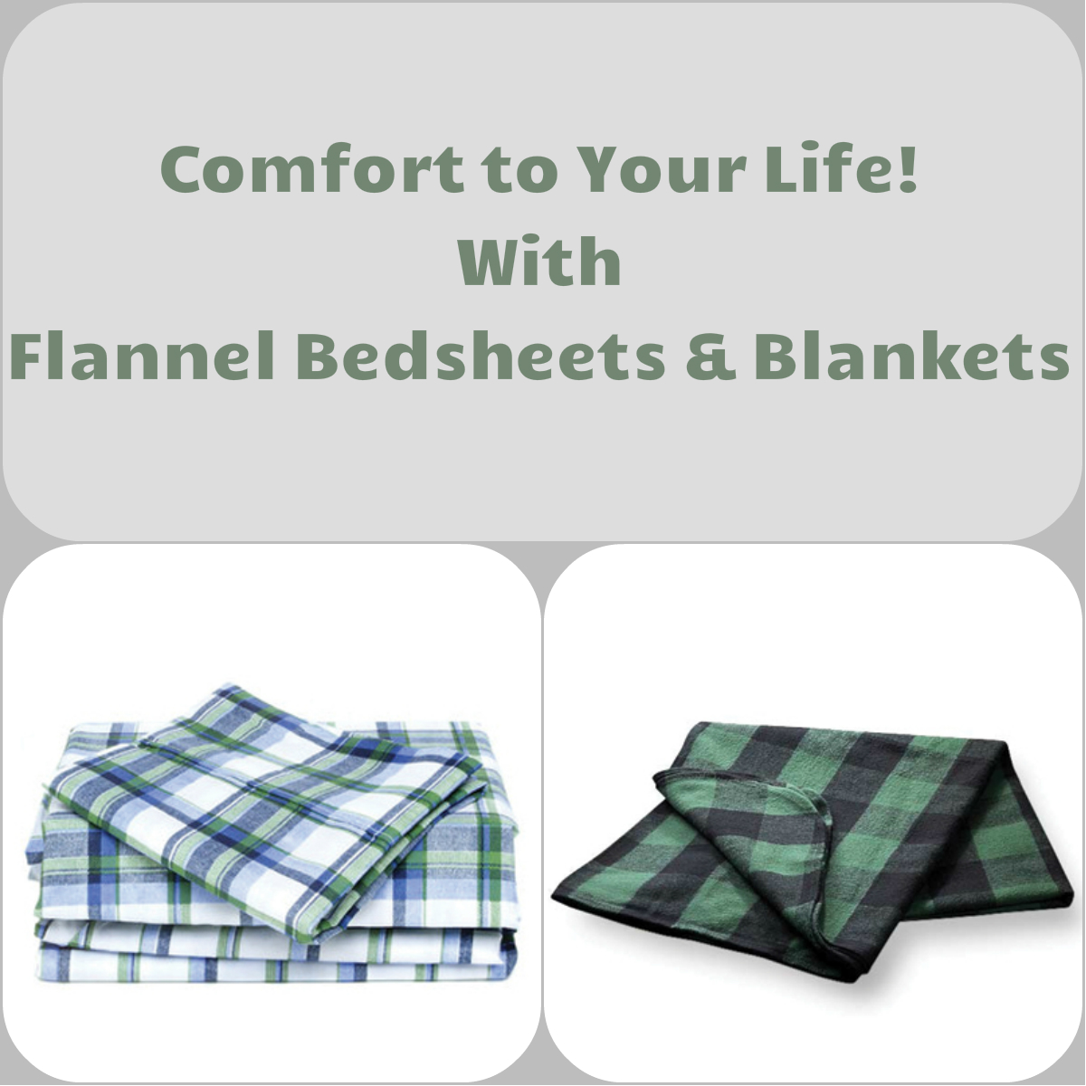 The Flannel Bedsheets, Blankets or Dresses: Add Comfort to Your Life
