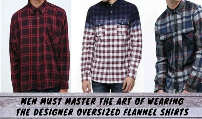 Oversized Flannel Shirt Mens