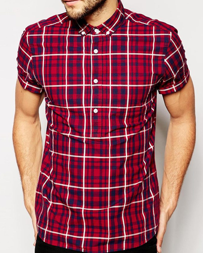 Red and Blue checked bulk Flannel Shirt Manufacturers USA