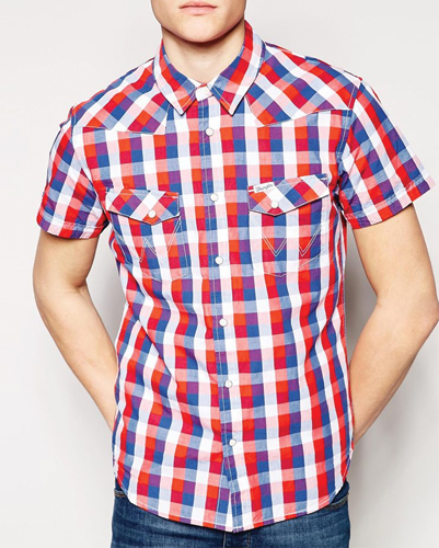 pink plaid flannel shirt