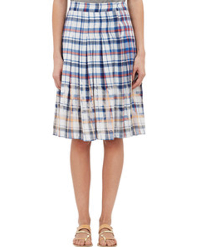 Soft Maiden Check Flannel Skirt