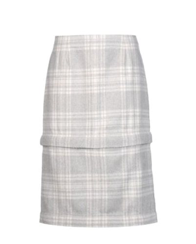 Acid Wash Grey and White Check Flannel Skirt