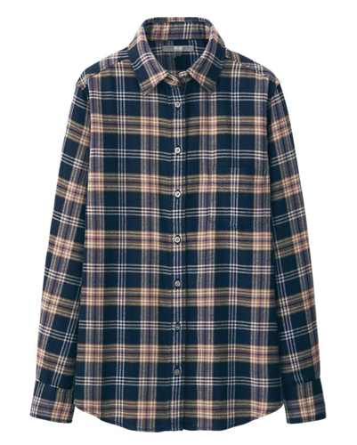 Adipose Blue and Beige Flannel Shirts Manufacturer