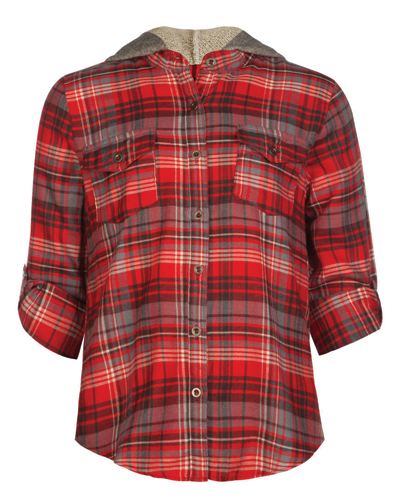 Adorable Frilled Girls' Flannel Shirt
