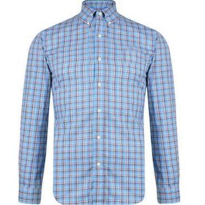 Alluring Blue Windowpane Checked Flannel Shirt
