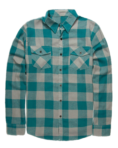 Ash and Sea-Green Flannel Shirt