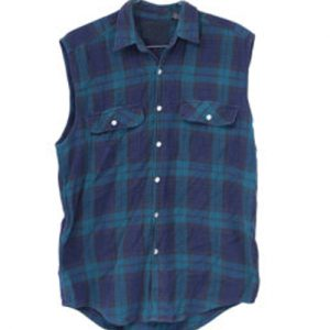 Atlantic Blue Flannel Vest