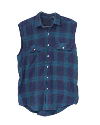 Atlantic Blue Flannel Vest