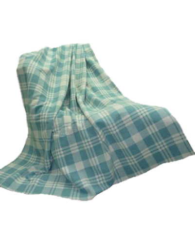 Baby Blue Check Flannel Blanket