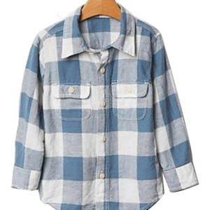 Backyard Lavender Bold Checked Baby Shirt
