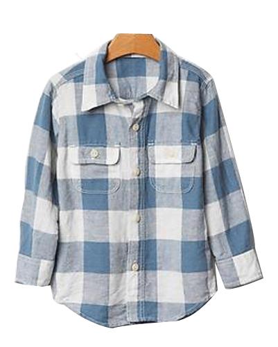 Backyard Lavender Bold Checked Baby Shirt