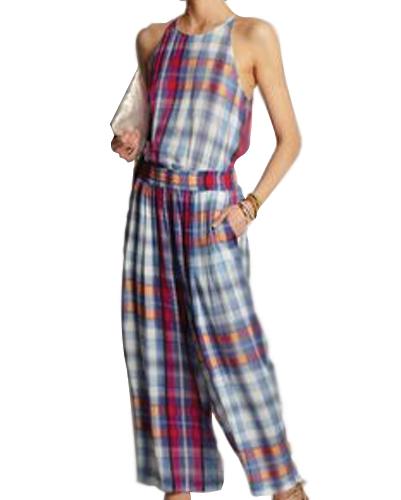 Baggy Flannel Jumpsuit