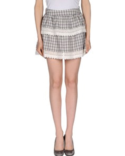 Basic Ladder Lacey Flannel Skirt