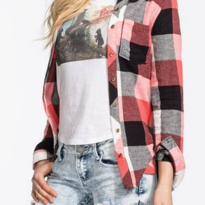 Beauty Blanca Long Sleeve Flannel Shirt