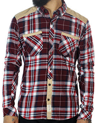 Biker Brick Checked Designer Flannel Shirt