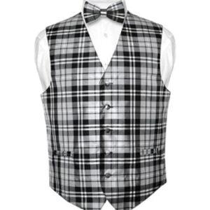 Black & White Checked Waistcoat