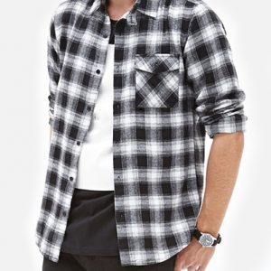 Black And Ash Plaid Shirt