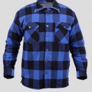 Black and Blue Flannel Shirt