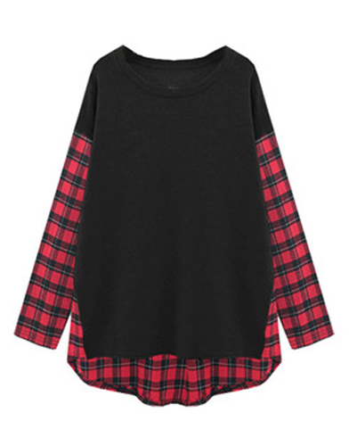 Black Block Balloon Flannel Tee