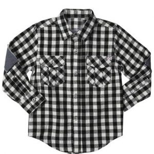 Black Checked Baby Shirt