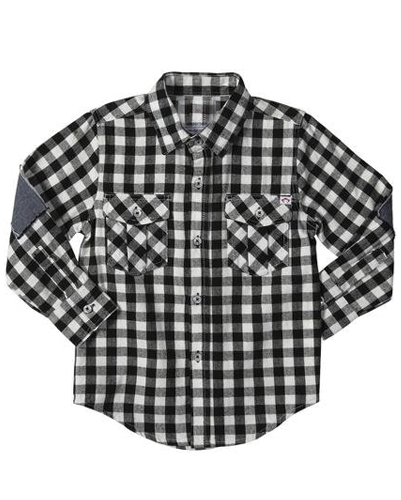 Black Checked Baby Shirt
