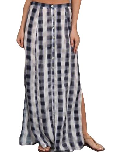Black Eyed Monster Print Flannel Skirt