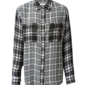 Black Mixed Checks Flannel Shirt