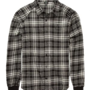 Black on Black Flannel Shirt