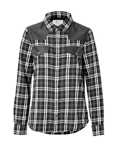 Black Patch Flannel Shirt