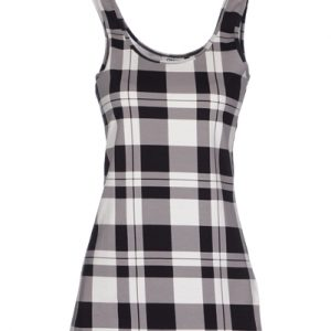 Black & White Flannel Dress