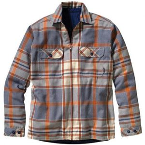 Blue and Orange Flannel Jacket
