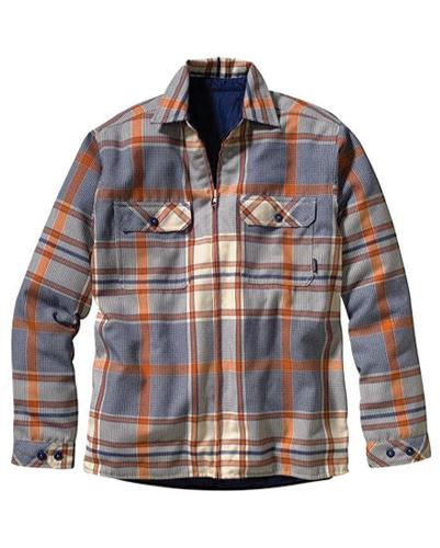 Blue and Orange Flannel Jacket