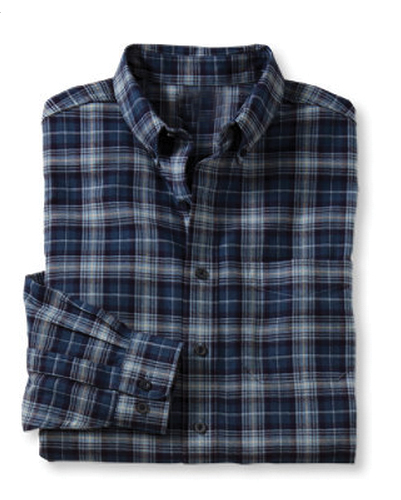Blue and White Soft Tinge Check Shirt Soft Collar