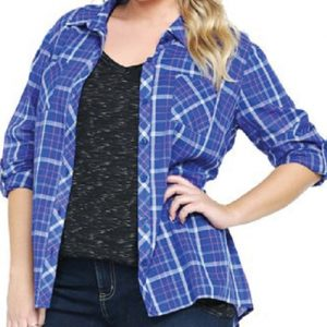 Blue Berry Designer Oversized Flannel Shirt