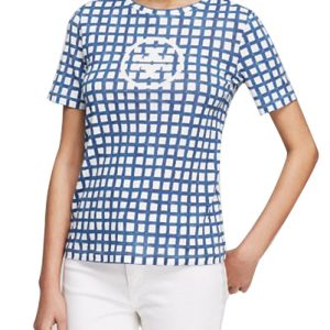 Blue Checkered Women's Tee