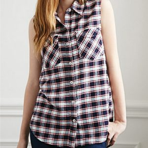 Blue Plaid Tunic Shirt