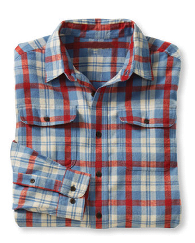Blue, Red and White Boxer Check Shirt