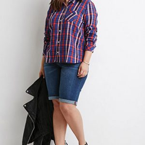 Blue Stream Oversized Flannel Shirt
