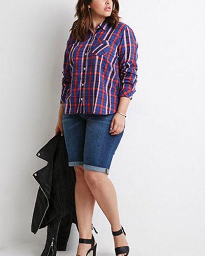 Blue Stream Oversized Flannel Shirt