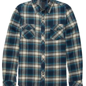 Blue Stylish Flannel Shirt