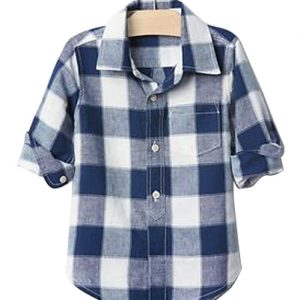 Blue White Bold Checks Baby Shirt