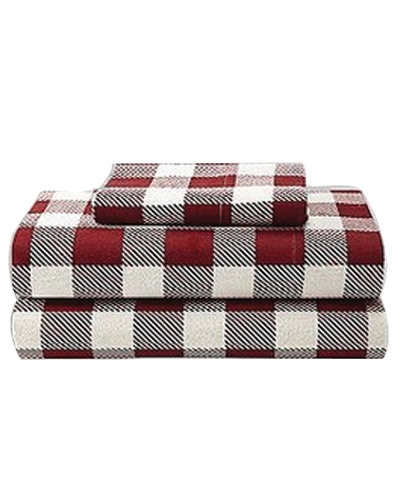 Bold Brick Shepherd Checks Flannel Bed Sheet