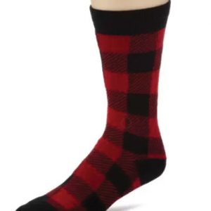 Brazen Red and Black Check Socks