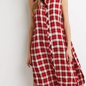 Breezy Flannel High-Low Dress