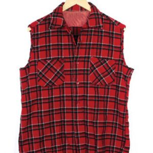 Breezy Red Flannel Vest