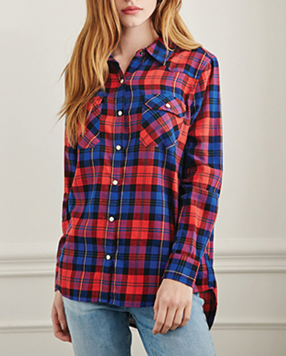 Bright Sparkling Flannel Shirt Top Manufacturer