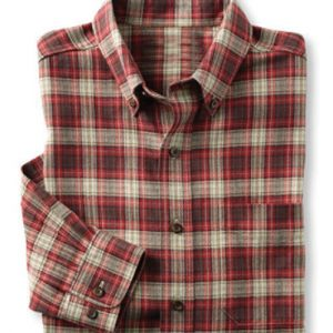 Brown and White Stamp Check Shirt