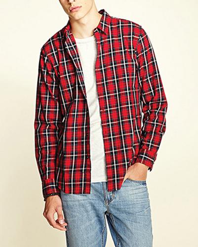 Bulls Eye Long Sleeve Flannel Shirt