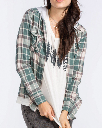 Butter Scotch Long Sleeve Flannel Shirt