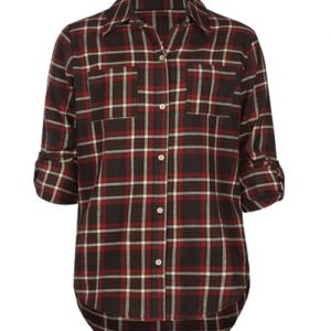 Button Up Grey Checkered Girls' Shirt